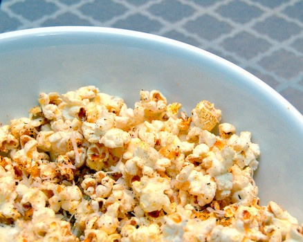Cajun-seasoned popcorn with a hint of lime - for Mardi Gras