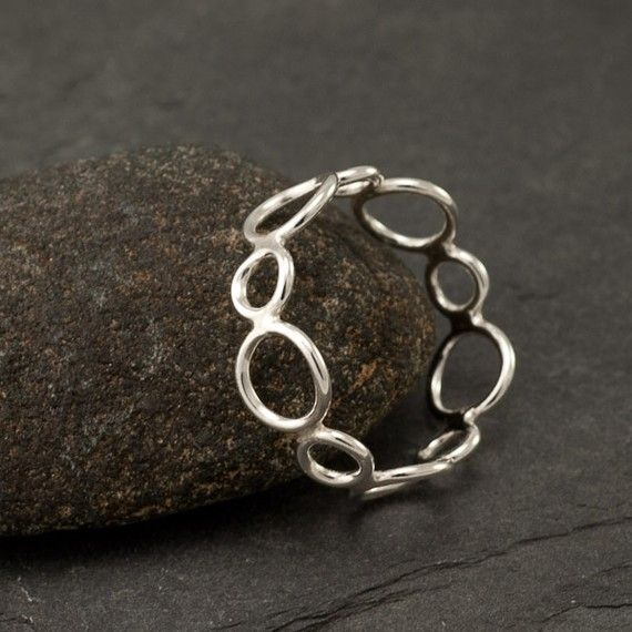 handmade sterling silver ring silver circles ring by
