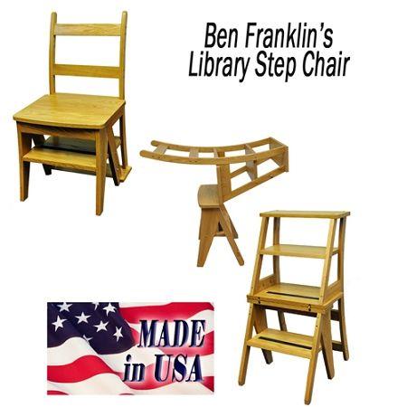 Benjamin Franklin Library Ladder Chair Here Franklin