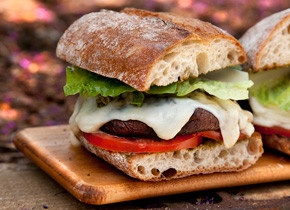 """Double-Decker Marinated Portobello """"Burger""""   Recipe"""