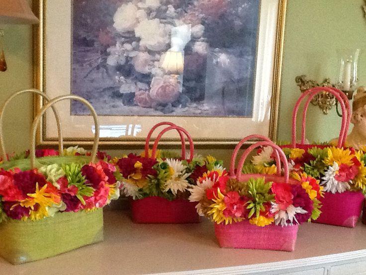 Spring has sprung blooming baskets by lisa pinterest