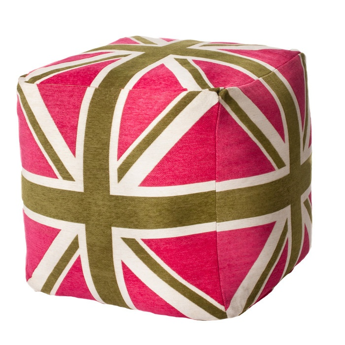 Union Jack Pouf in Pink  Products I Find Interesting