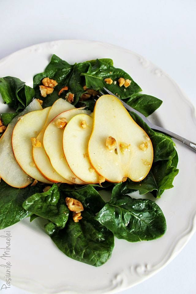 Pear and Spinach salad | f o o d | Pinterest