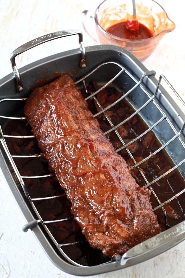 Vinegar And Spice Oven Ribs Recipe — Dishmaps