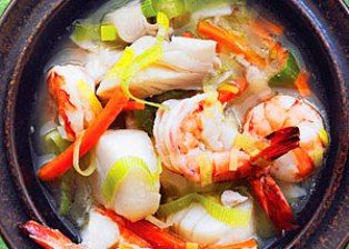 Miso Seafood Soup. I love Miso, I love seafood. I think i will try ...