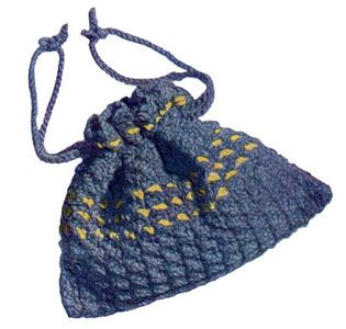 Drawstring Bag: free pattern Crochet Pinterest