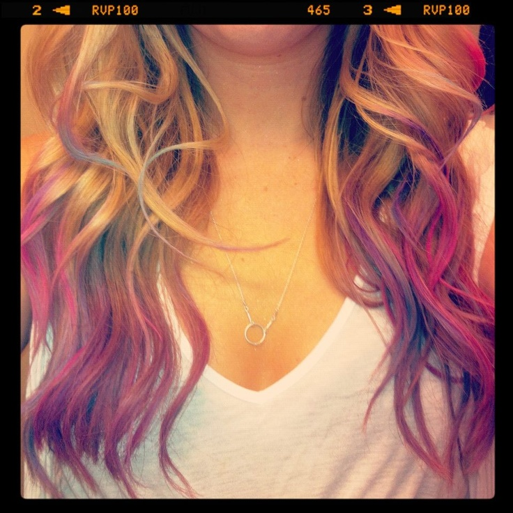 my hair first multicolored ombre split ends amp smudges