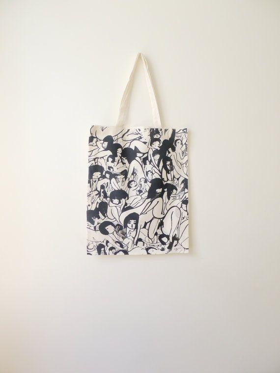 ladies ladies ladies bag by monramos on Etsy, $20.00