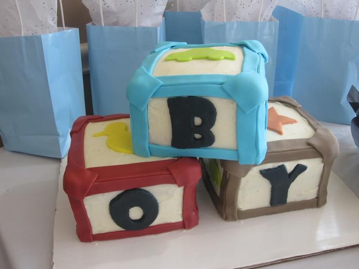 building blocks baby shower cake | Cakes by Amanda | Pinterest