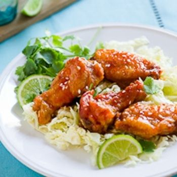 Honey Sriracha Chicken Wings | recipes | Pinterest