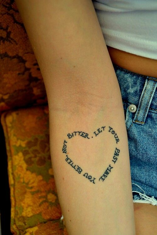 Heart Shaped Tattoos With Words As heart shaped tattoo.