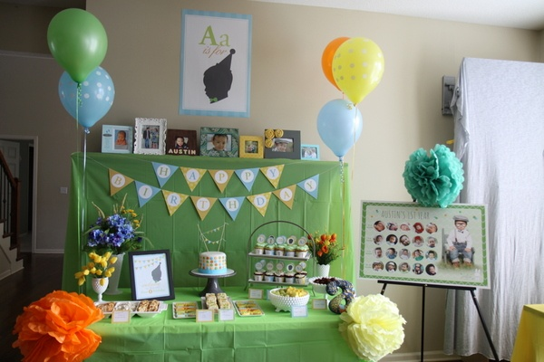 Austins 1st Birthday (At Home) Party!  Party Ideas  Pinterest