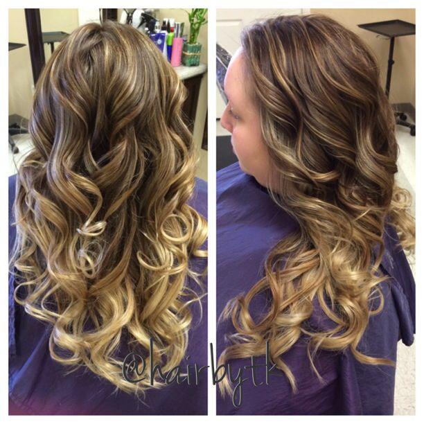 Foil highlights over a balayage ombré   #hairbytk   Pinterest