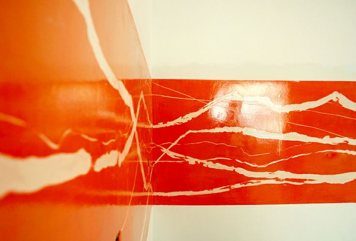 CUCINA IN RESINA.parete decorata con rivestimento in resina(decoro ...