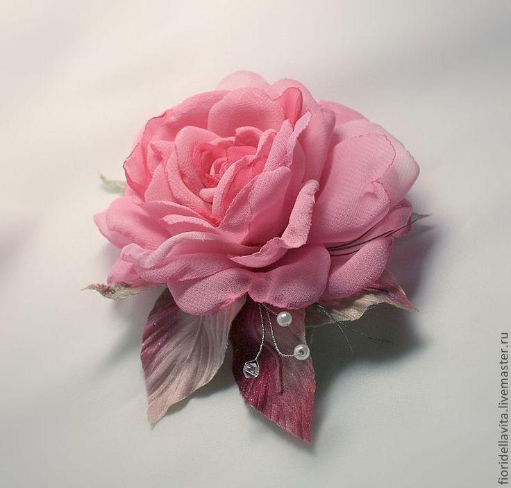 Розы из шифона своими руками мастер класс 20