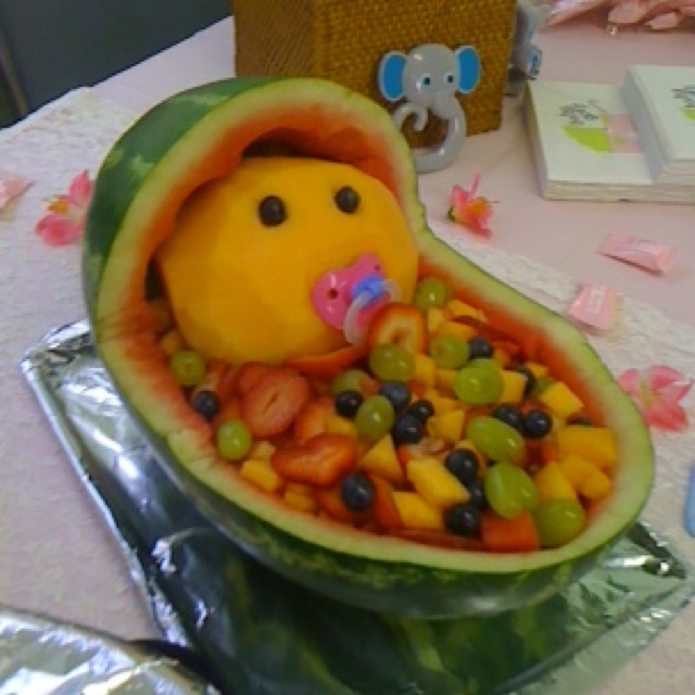 watermelon baby i 39 d throw a baby shower like this pinterest