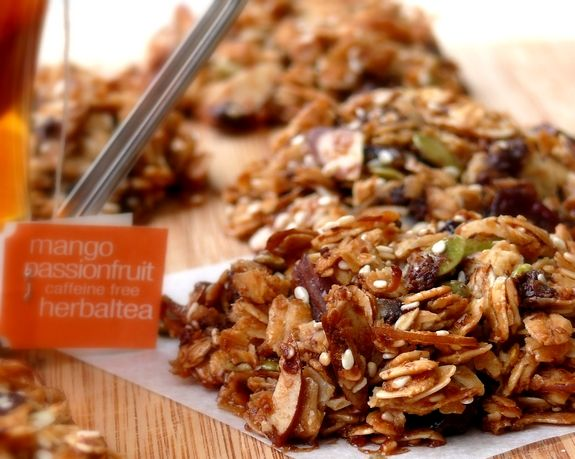 Cherry Nut Granola Recipe — Dishmaps
