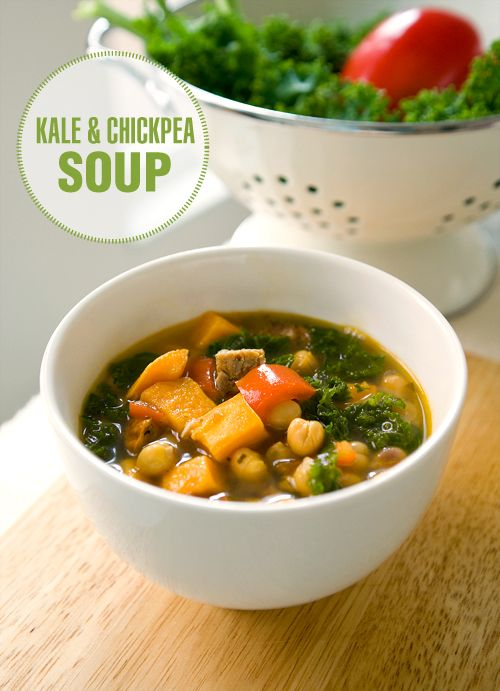 Kale and Chickpea Soup | ! A Permanent Health Kick ! - Healthy Living ...