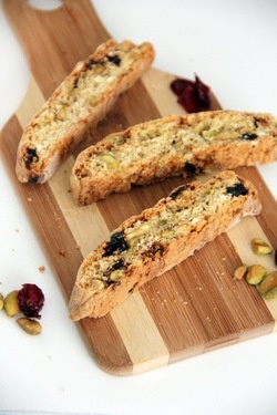 Pistachio & Dried-Cherry Biscotti | recipe keeper | Pinterest