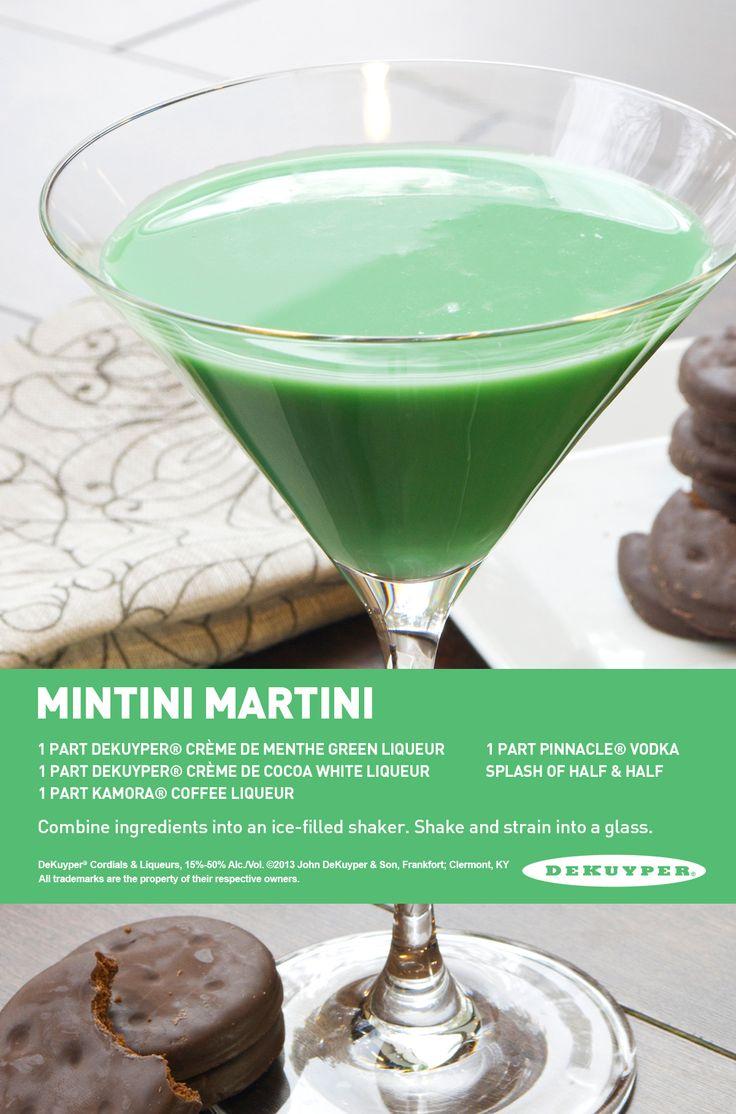 Mintini Martini, taste just like Thin Mints! #mint #martini