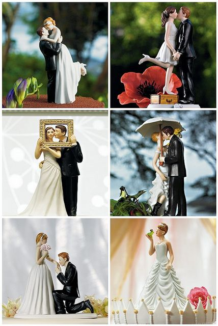 non traditional wedding cake toppers