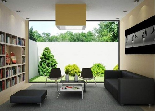 Living Room Library Design
