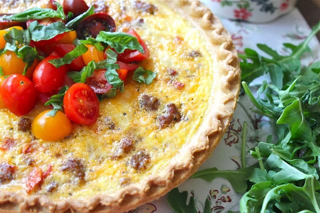 spicy sausage quiche | breakfast | Pinterest