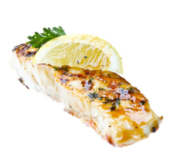 Halibut Steaks with Lemon and Garlic