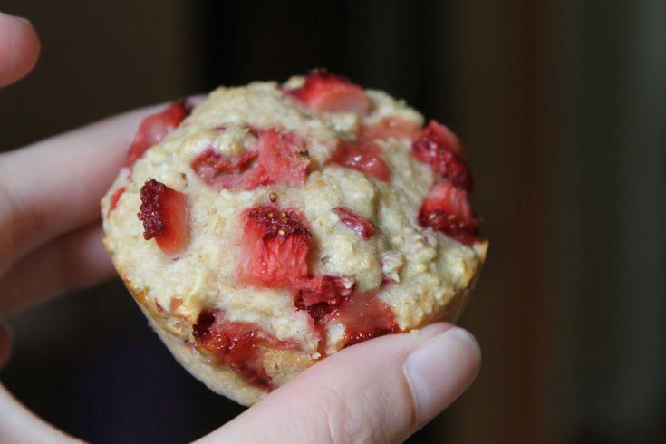 oat flour strawberry shortcake muffins   Gluten free   Pinterest