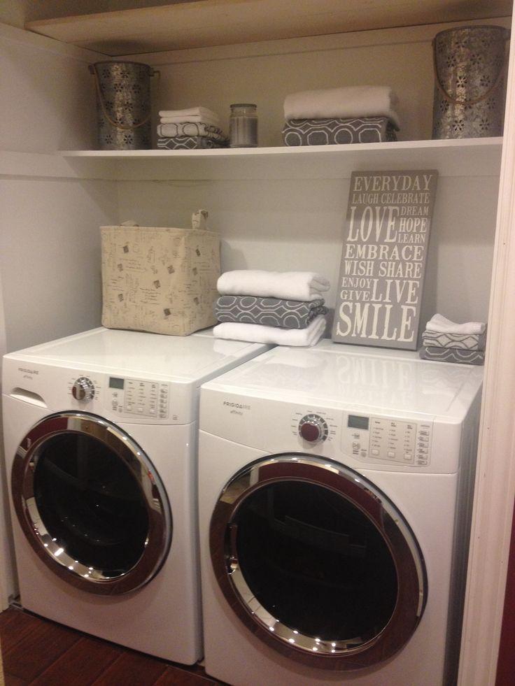 shelf above washer dryer home love pinterest. Black Bedroom Furniture Sets. Home Design Ideas