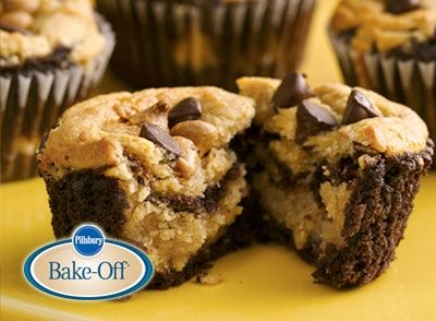Chocolate-Peanut Butter Layered Cupcakes