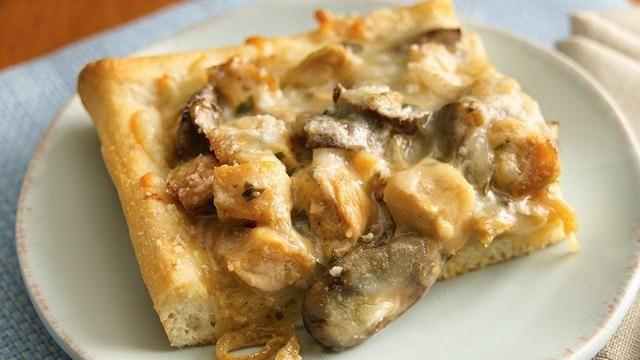 Creamy Chicken Marsala Pizza   Recipe
