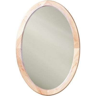 Nutone Dunhill 21 In Oval Mirrored Medicine Cabinet In Maple 1370mx
