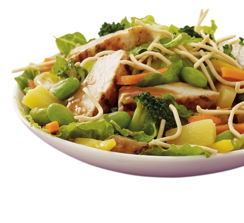 Asian-Style Chicken Salad (chicken, pineapple, broccoli, & carrots ...