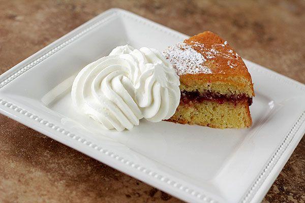 Almond Cake with Raspberry Pomegranate Jam | Recipe