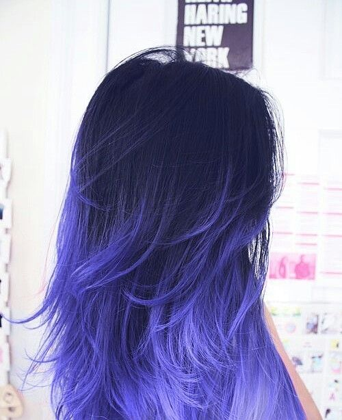 Bluish purple ombre hairBluish Purple Hair