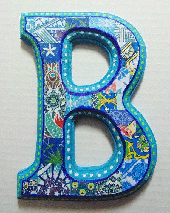 Wall Decor Letter B : Wooden letters for nusery b nursery letter wall decor