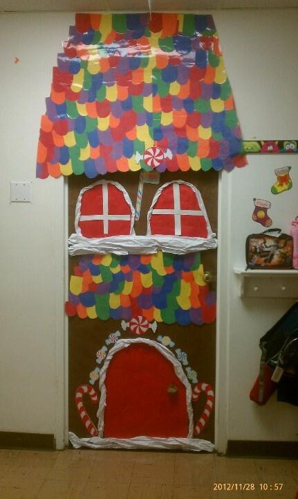 Christmas Decoration Ideas Kindergarten : Preschool christmas door the classroom