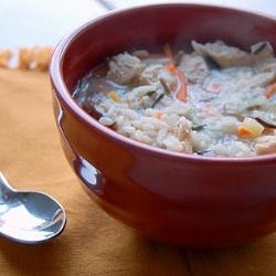 Chicken Shiitake Wild RIce Soup by abitchinkitchen