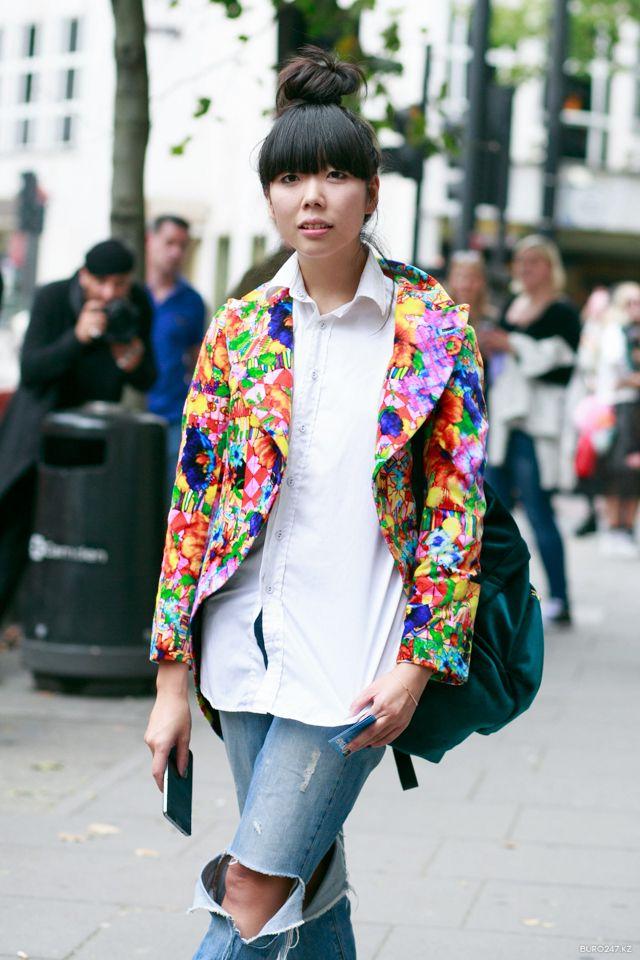 Susie splashing some colour around. London. #SusieLau #StyleBubble