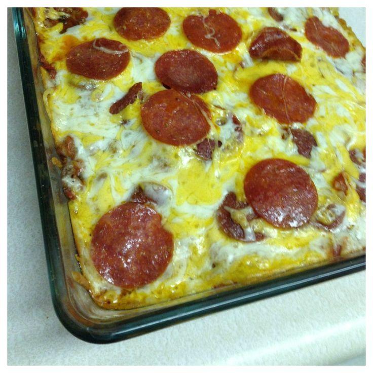Pepperoni Pizza Casserole Recipe — Dishmaps