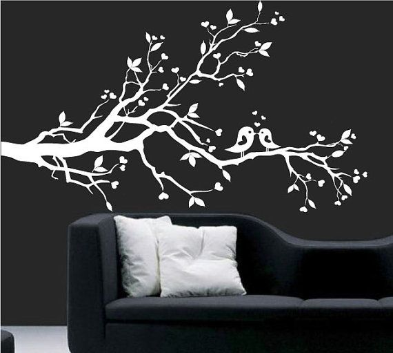 Wall Decal white tree branch with hearts decal by ModernWallDecal, $69 ...