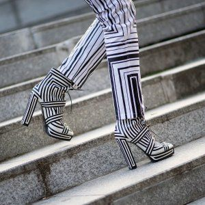 Street Style: Bold Shoes and Prints in Paris
