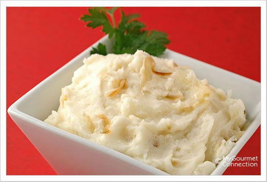 Caramelized Shallot and Goat Cheese Mashed Potatoes | Recipe