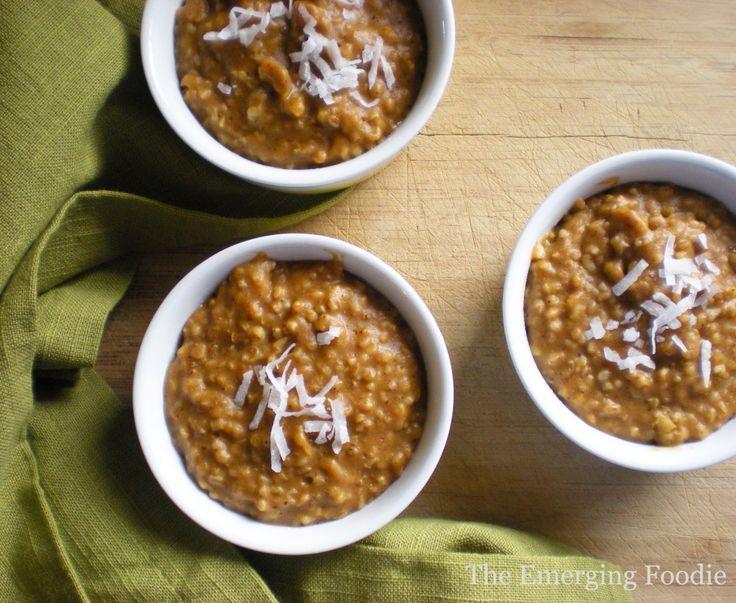 pumpkin steel cut oatmeal | Breakfast | Pinterest