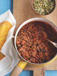 Chipotle Beef and Bean Chili If you enjoy the crunch of a few tortilla ...