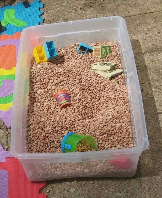 DIY Bean Sensory Bin For The Kiddies Pinterest