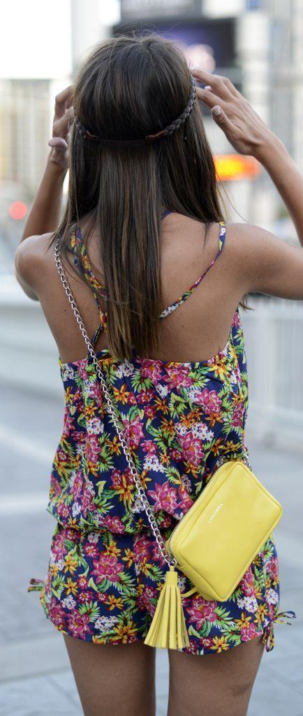 Floral + romper.