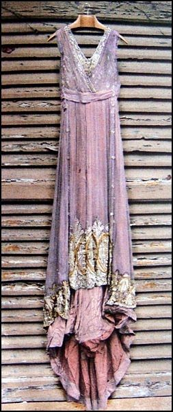 1910 purple beaded dress
