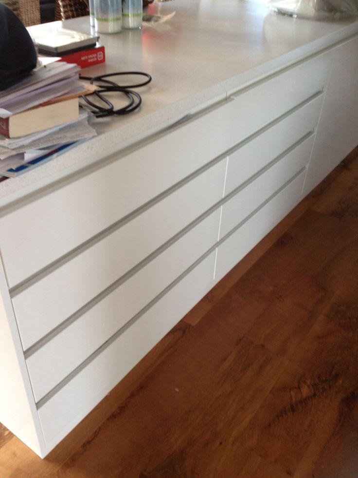 Handle Less Kitchen Cabinets Kitchen Pinterest